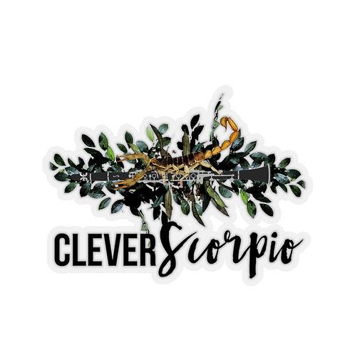 Clever Scorpio & Clarinet Stickers