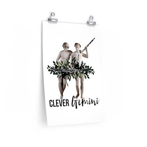 Clever Gemini & Clarinet Posters