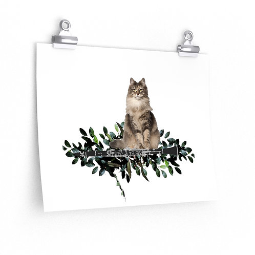Clever Cat & Clarinet Posters