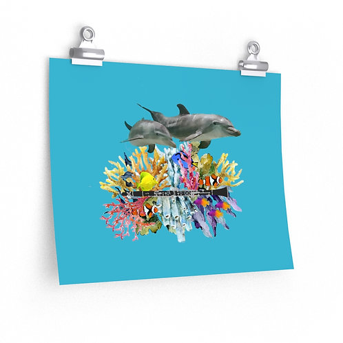 Clever Dolphins & Clarinet Posters