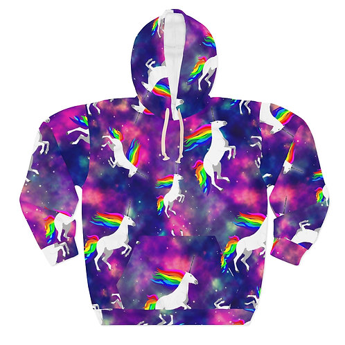 Claricorns in Space Unisex Pullover Hoodie