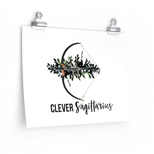 Clever Sagittarius & Clarinet Posters