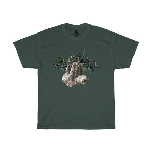 Clever Sloth & Clarinet Unisex Heavy Cotton Tee