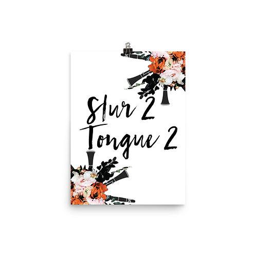 Slur 2, Tongue 2 Quote Poster