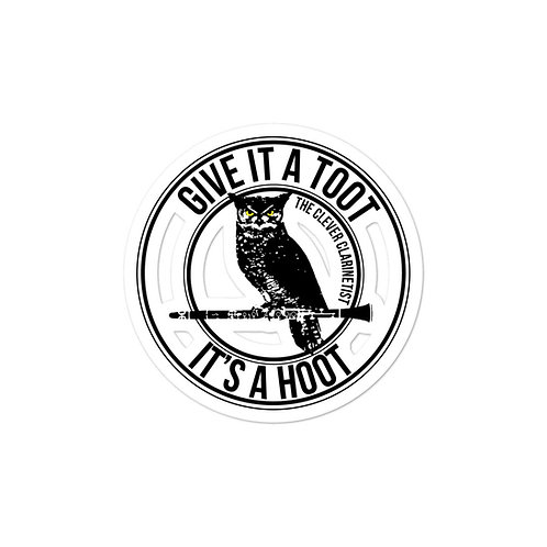 Give it a Toot, It's a Hoot! Stickers