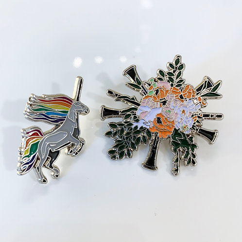 Clarinet Bouquet + Claricorn Pin Collector Pack