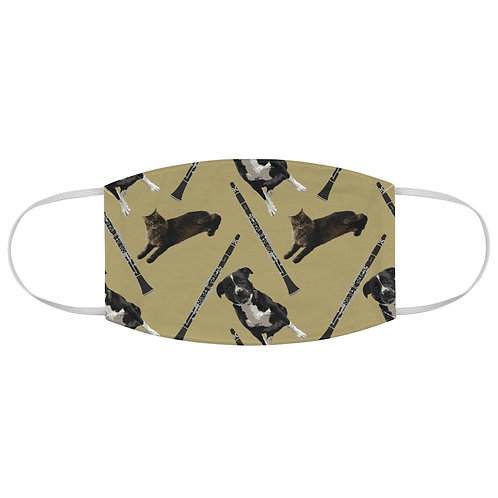Cats & Dogs & Clarinets Fabric Face Mask