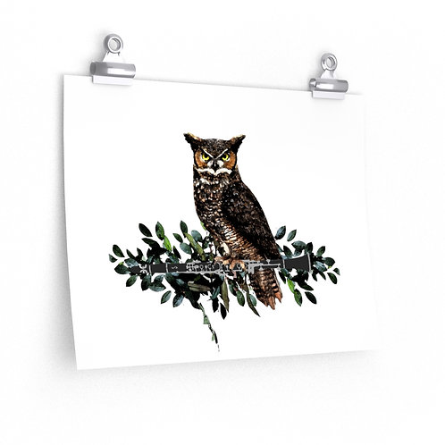 Clever Owl & Clarinet Posters