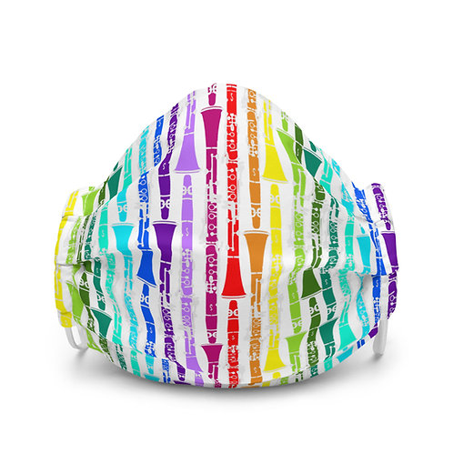 Colorful Clarinets face mask