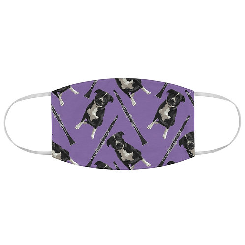 Dogs & Clarinets Fabric Face Mask