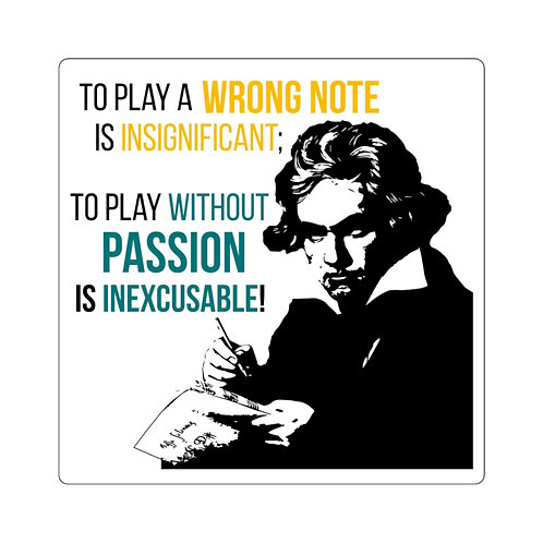 Beethoven Quote Sticker