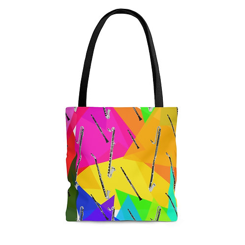 Colorful Triangles & Clarinets Tote Bag