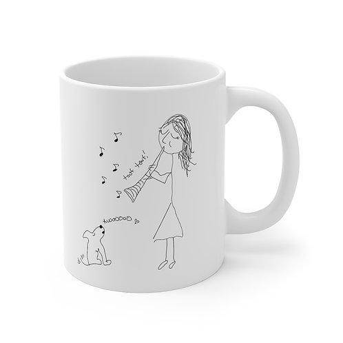 Serenade for Clarinet & Puppy Mug 11oz