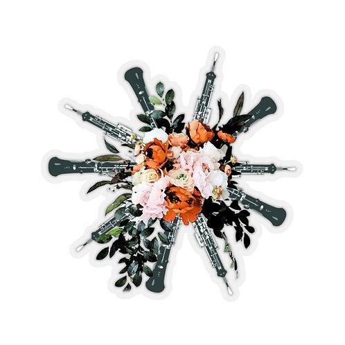 Oboe Bouquet Kiss-Cut Stickers