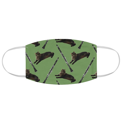 Cats & Clarinets Fabric Face Mask