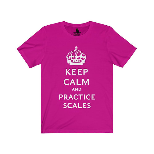Keep Calm and Practice Scales Unisex Tee