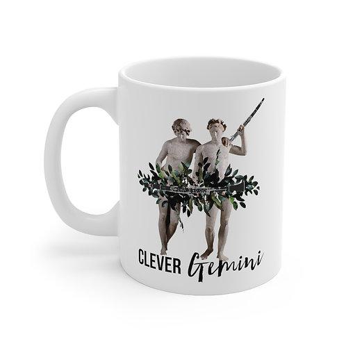 Clever Gemini & Clarinet Mug 11oz
