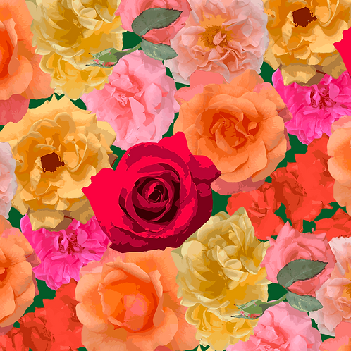 Roses of Loose Park Repeating Pattern