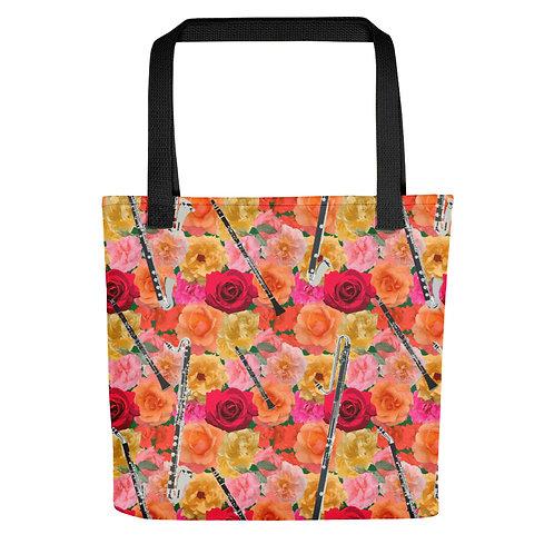Clarinets & Roses Tote Bag