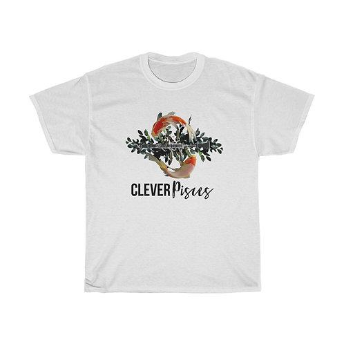 Clever Pisces & Clarinet Unisex Heavy Cotton Tee