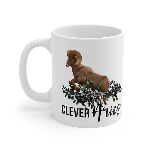 Clever Aries & Clarinet Mug 11oz