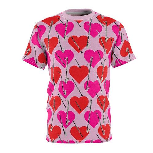 Valentine's Heart Clarinet Unisex T-Shirt