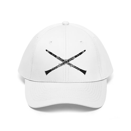 Clarinet Cross Unisex Twill Hat—More Colors!