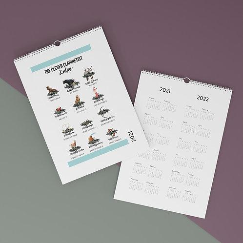 Clever Clarinet Zodiac Wall Calendar (2021)
