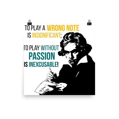Beethoven Quote Poster