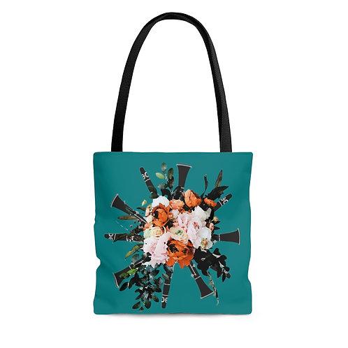 Clarinet Bouquet Tote Bag