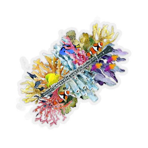 Oboe Reef Kiss-Cut Stickers
