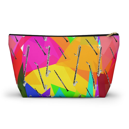 Colorful Triangles and Clarinets Accessory Pouch