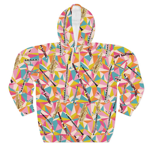Reed Quintet Abstract Unisex Pullover Hoodie