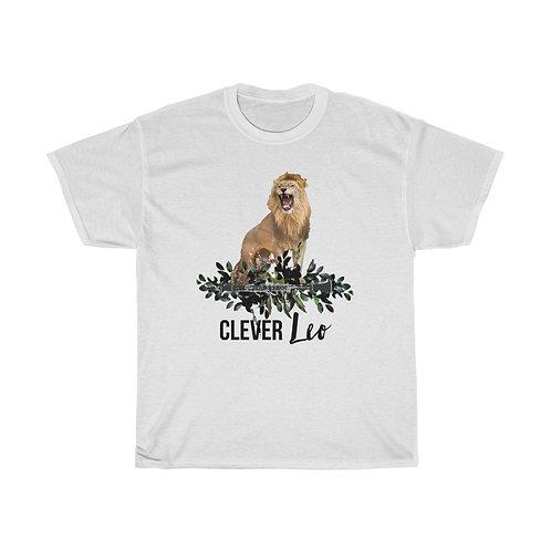 Clever Leo & Clarinet Unisex Heavy Cotton Tee