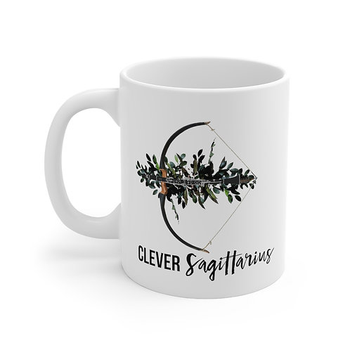 Clever Sagittarius & Clarinet Mug 11oz
