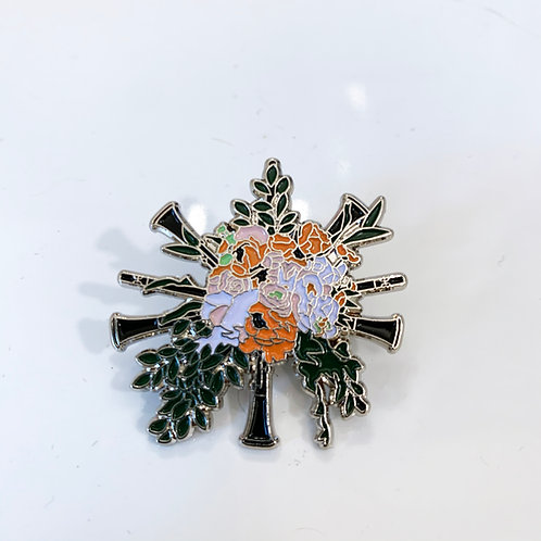 "Clarinet Bouquet 1.5"" Soft Enamel Pin"
