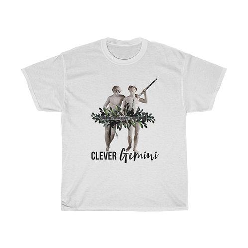 Clever Gemini & Clarinet Unisex Heavy Cotton Tee