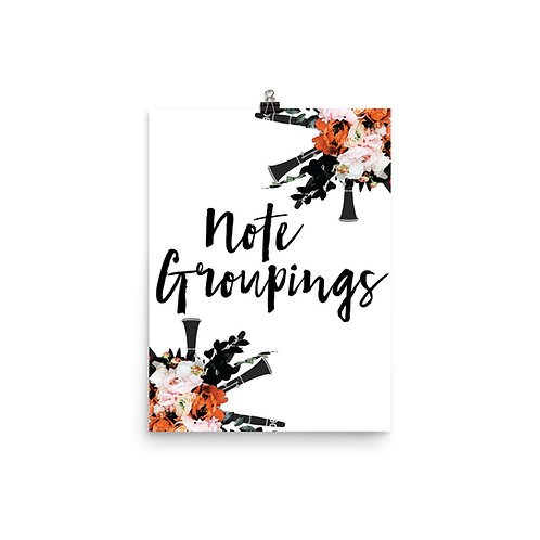 Note Groupings Quote Poster