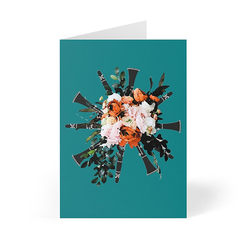 Clarinet Bouquet Greeting Cards (8 pcs)