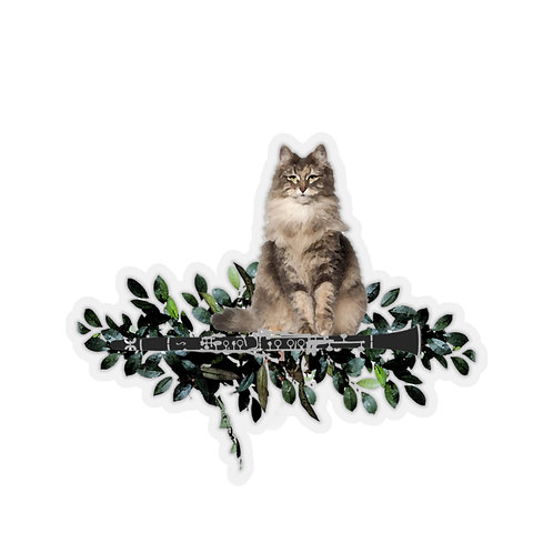 Clever Cat & Clarinet Stickers
