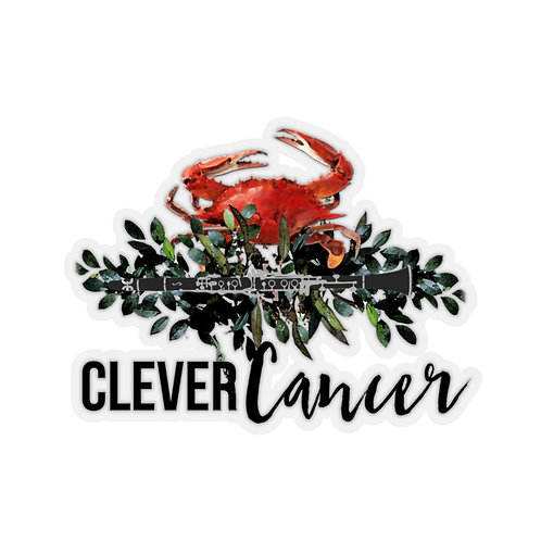 Clever Cancer & Clarinet Stickers