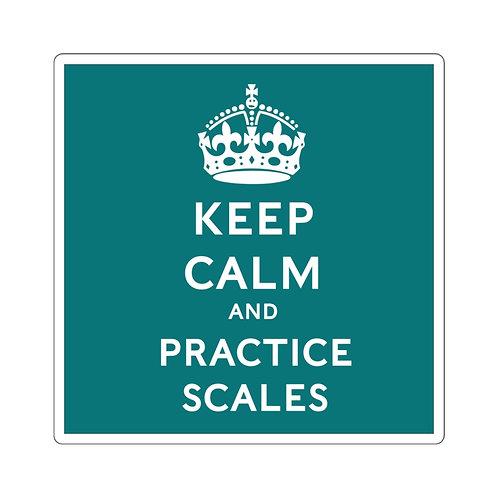 Keep Calm Square Stickers