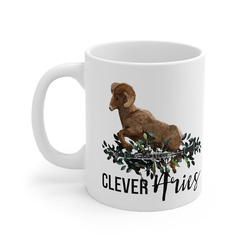 Clever Aries & Clarinet Mug 11oz