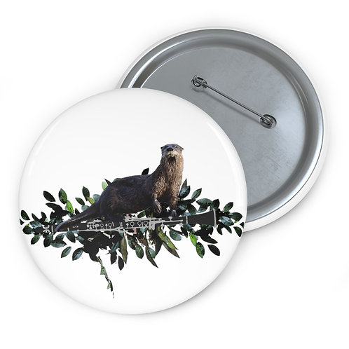 Clever Otter & Clarinet Pin Buttons