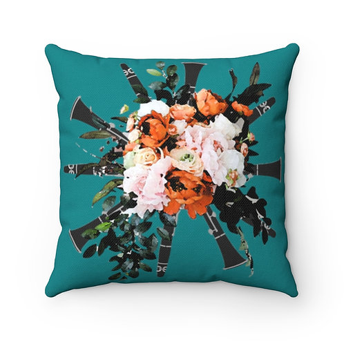 Clarinet Bouquet Square Throw Pillow
