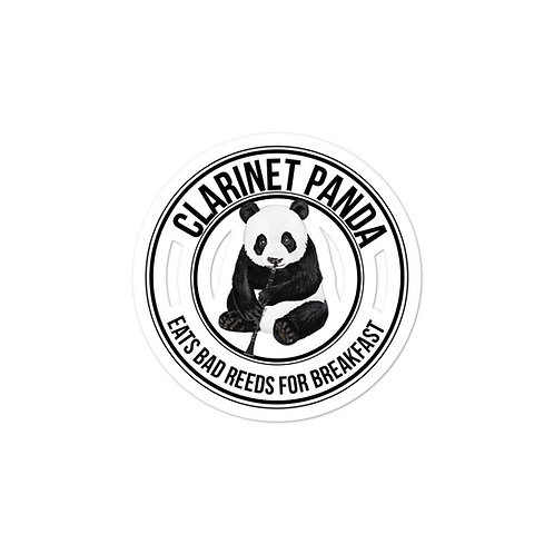 Clarinet Panda Stickers