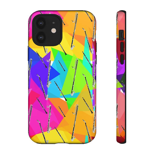 Colorful Triangles & Clarinets Phone Case