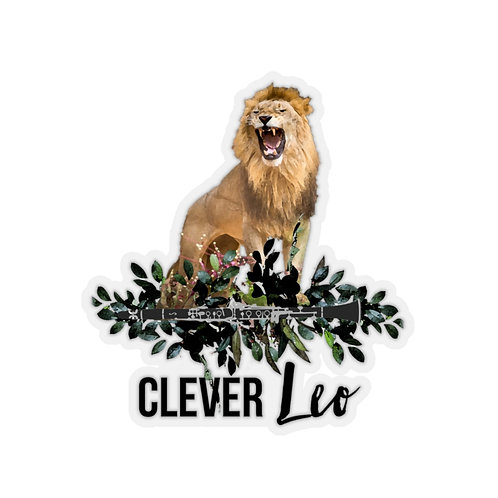 Clever Leo & Clarinet Kiss-Cut Stickers