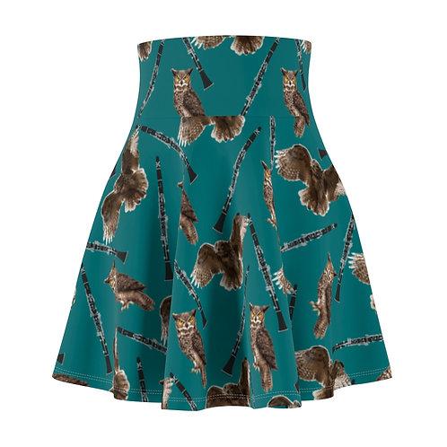 Owls & Clarinets Skater Skirt