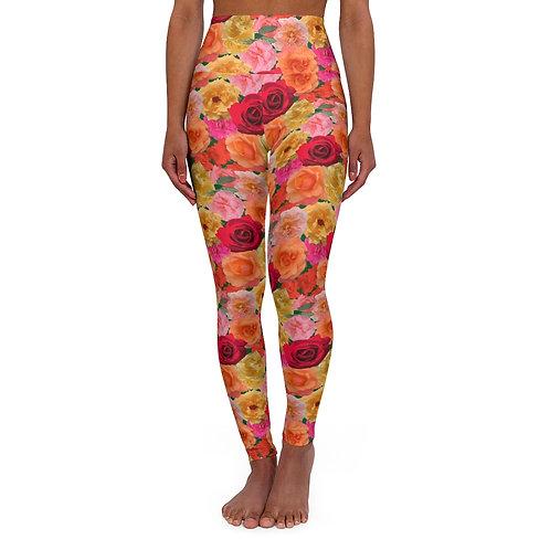 Roses of Loose Park High Waisted Yoga Leggings